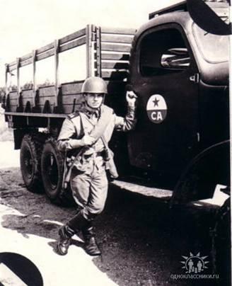Игорь Паньшин, на учениях после учебки. 1973-й, весна