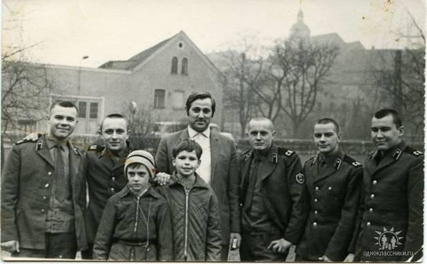 В гостях у немцев 1972 г. март, г. Гера.